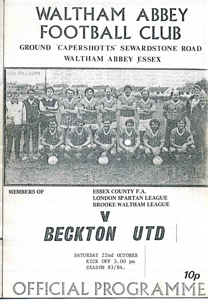 Beckton United Home 1983-84