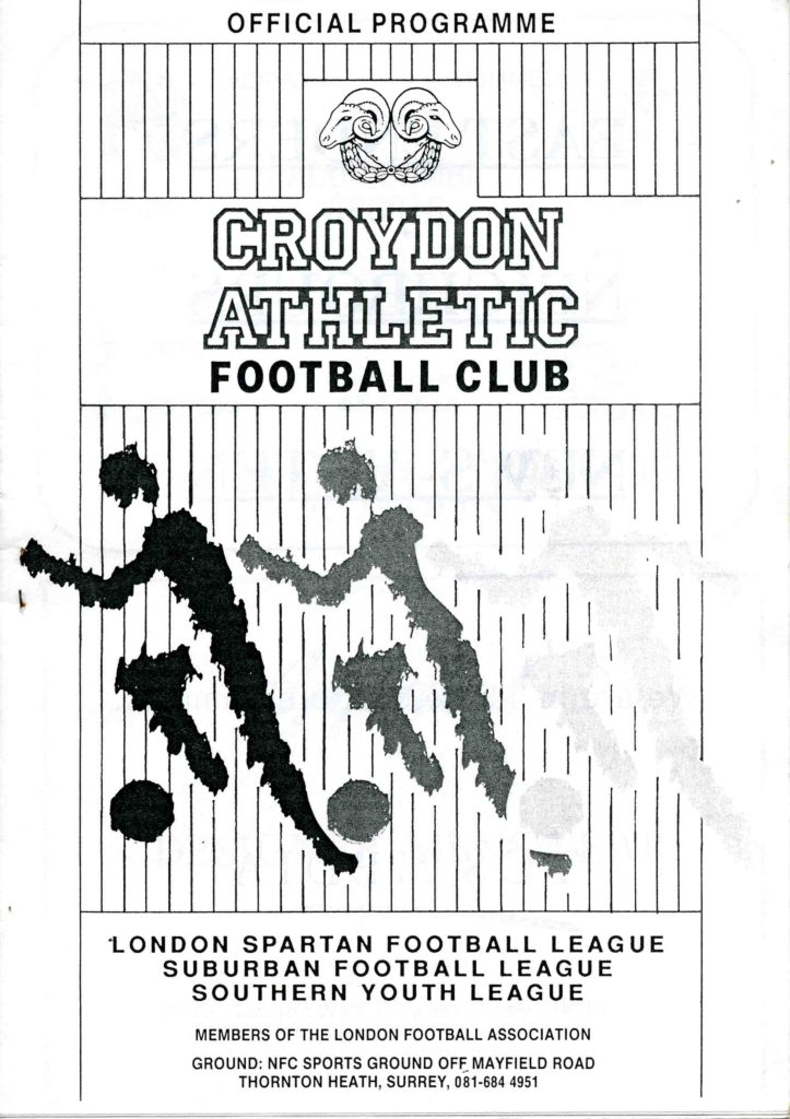 Croydon Athletic Away 1993-94