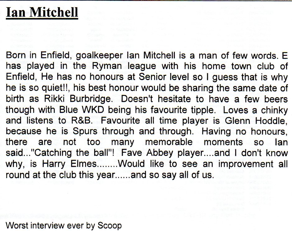 Ian Mitchell Interview