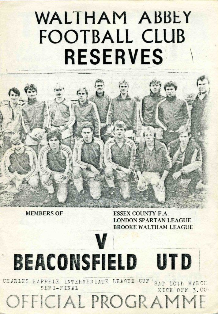 Reserves V Beaconsfield United 1983-84