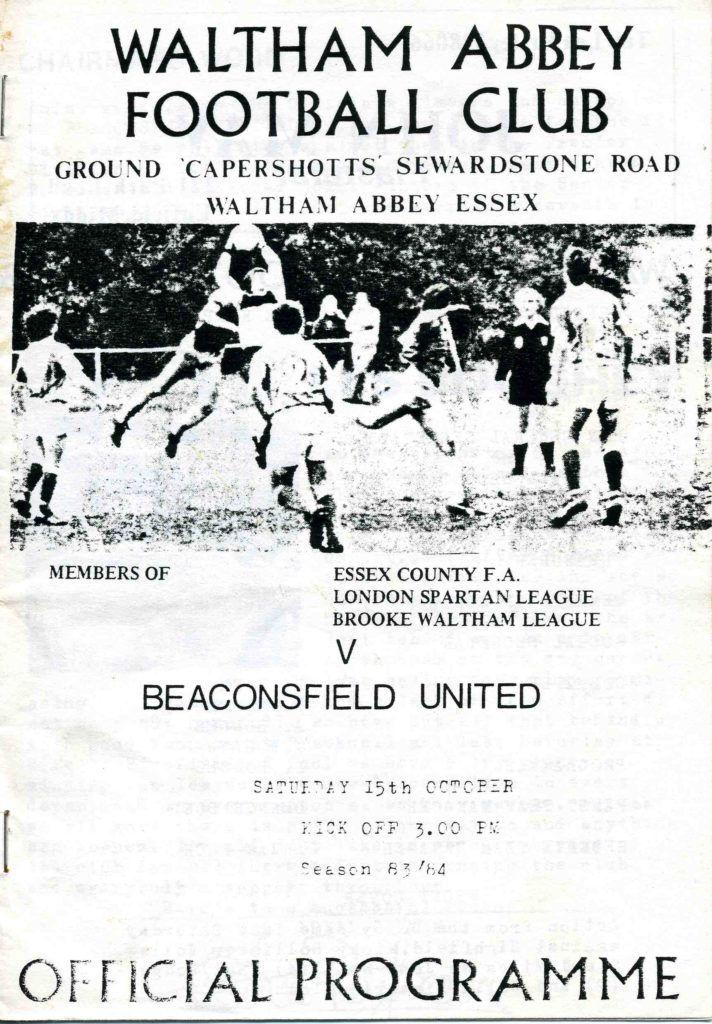 Beaconsfield United Home 1983-84